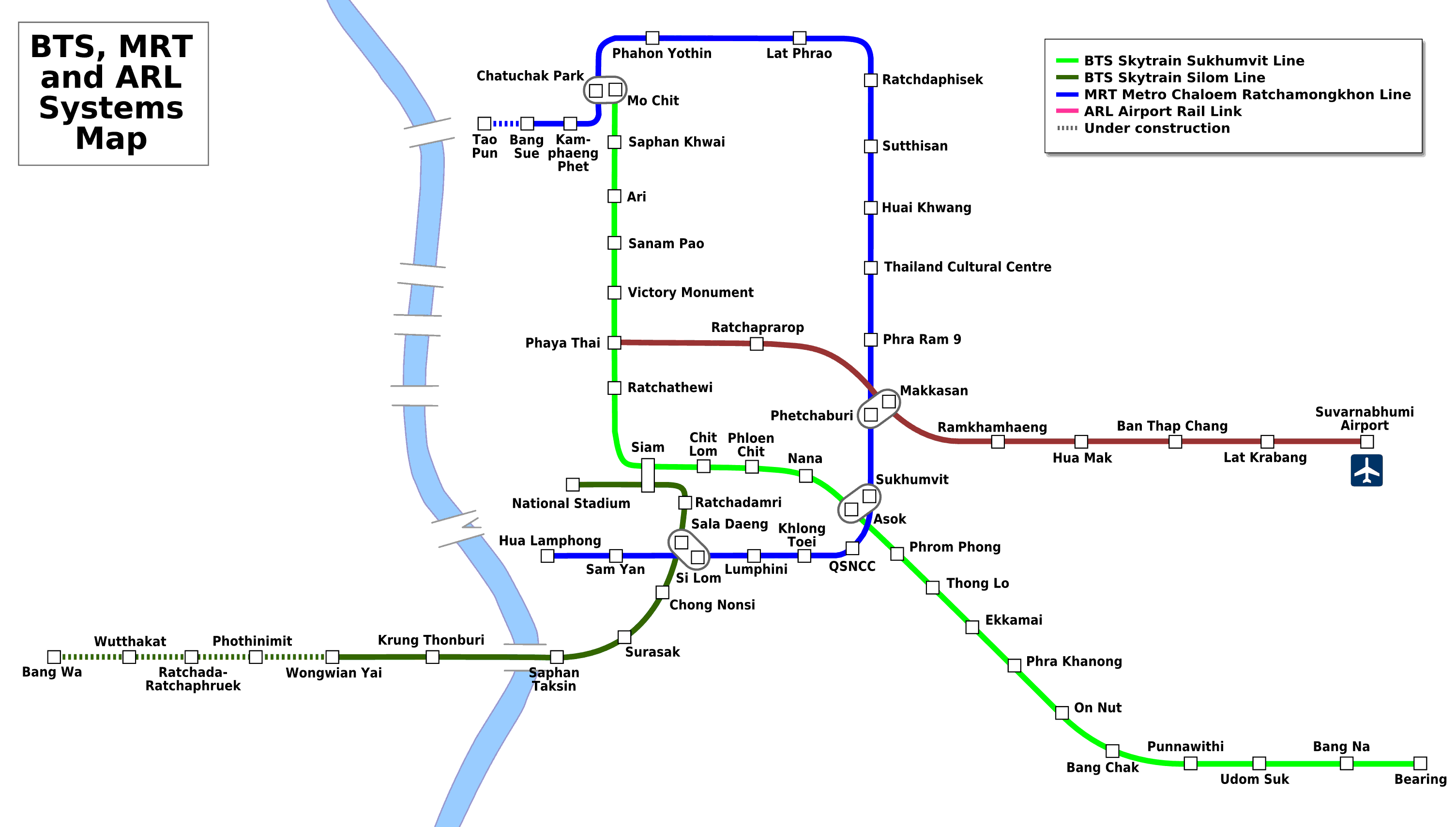 Skytrain Map Bangkok Airport images